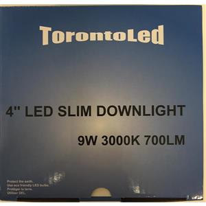 TorontoLed Downlight - 4-in - White