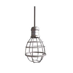 Whitfield Lighting Chyenne Pendant Light - 1 Light - 8-in - Satin Steel