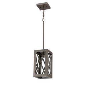 Whitfield Lighting Wendall Pendant Light - 1 Light - 10.25-in - Ebony Bronze
