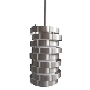 Whitfield Lighting Sheia Pendant Light - 3 Lights - 8.5-in - Satin Steel