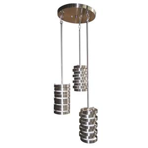 Whitfield Lighting Sheia Pendant Light - 3 Lights - 8.5-in - Satin Stainless Steel