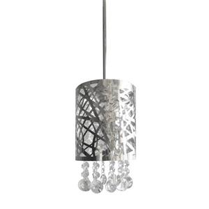 Whitfield Lighting Aileena 1-Light Pendant - 8.5-in - Polished Chrome