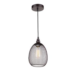 Whitfield Lighting Alec 1-Light Pendant - 9.9-in - Industrial Ebony Bronze