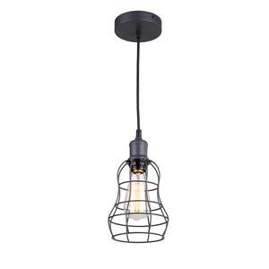 Whitfield Lighting 1-Light Pendant Light - 7.5-in x 5.75-in - Dark Grey