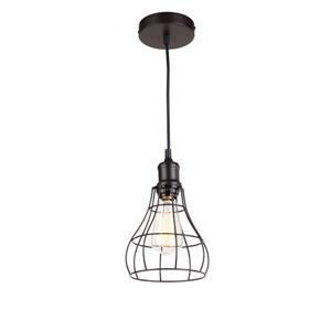 Whitfield Lighting 1-Light Industrial Pendant Light - 7-in x 4.75-in - Bronze