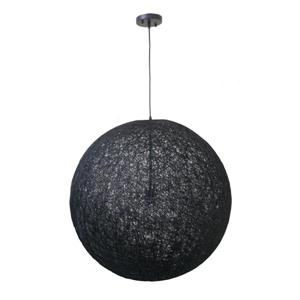 Whitfield Lighting 1-Light Pendant Light - 27,5-in x 27.5-in - Black