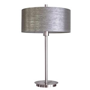 Whitfield Lighting Modena Decorative Table Lamp - 1 Light - 25-in - Chrome