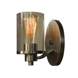 Whitfield Lighting Iris Wall Sconce - 1 Light - 7-in x 4.3-in - Satin Steel
