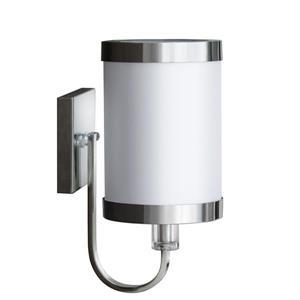 Whitfield Lighting Isla Wall Sconce - 1 Light - 12.4-in x 5.9-in - Satin Steel