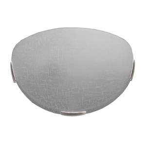 Whitfield Lighting Wall Sconce - 1 Light - 12-in x 7.5-in - White Linen - Satin Steel