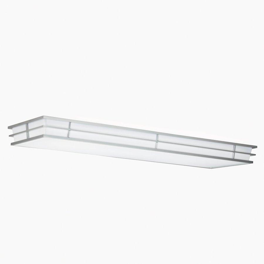 buy popular 95f7d 38852 Kichler Pavilion White Acrylic Flush Mount Fluorescent Light (Common: 4-ft;  Actual: 52.25-in)