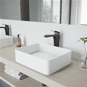 VIGO Vessel Bathroom Sink with Faucet - Jasmine