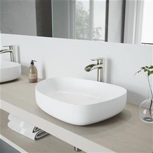 Vigo Vessel Bathroom Sink with Faucet - Peony
