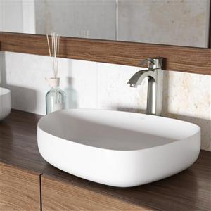 Vigo Vessel Bathroom Sink with Faucet - Peony
