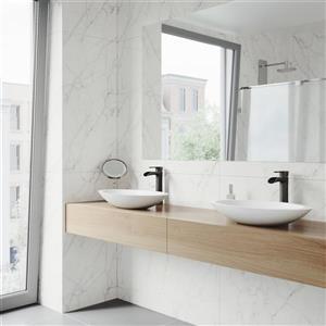 VIGO Vessel Bathroom Sink with Faucet - Wisteria