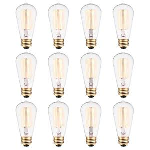 Globe Electric Edison S60 Incandescent Light Bulbs - 60 W - Pack of 12
