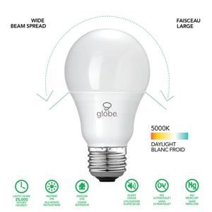 Globe Electric Equivalent Daylight A19 LED Light Bulb - 60W - Pack of 6