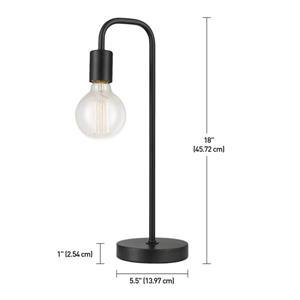 "Globe Electric Holden Table Lamp - 18"" - Metal - Black"