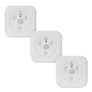Globe Electric LED Motion Activated Slim Puck Light - Pack of 3