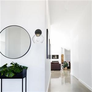 "Globe Electric Harrow Wall Sconce - 1 Light - 10.6"" - Black"