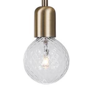 "Globe Electric Krystallos Wall Sconce - 1 Light - 17"" - Antique Brass"