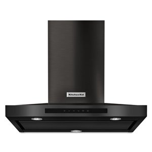 KitchenAid 30-in 600 CFM Wall-Mounted Range Hood (Black Stainless Steel)