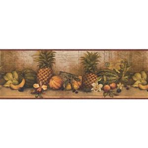 "Chesapeake Wallpaper Border - 15' x 8.5"" - Exotic Fruits/Postcard"
