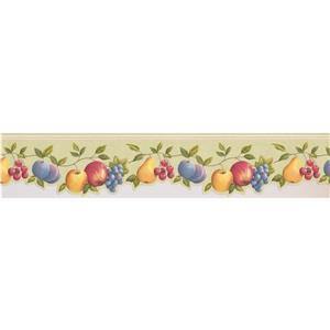 Norwall Wallpaper Border - 15' x 5-in- Fruits on Vine