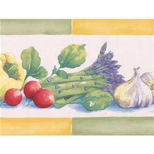 Norwall Wallpaper Border- 15' x 7-in- Vegetables - Multicolour