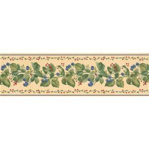 """Retro Art Wallpaper Border- 15' x 7"""" - Raspberry/Currant - Multicolour"""