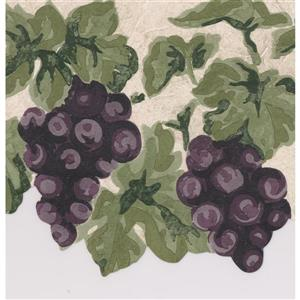 Norwall Wallpaper Border - 15' x 7.25-in- Retro Grapes - Multicolour