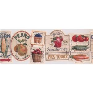"Chesapeake Wallpaper Border - 15' x 9"" - Vintage Signs - Multicolour"