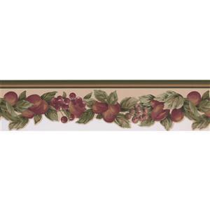 "Retro Art Wallpaper Border - 15' x 5.2"" - Vintage Fruits on Vine"