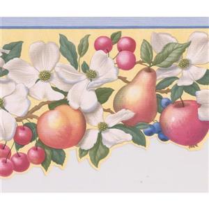 """Retro Art Wallpaper Border - 15' x 6.4"""" - Fruit/Flower - Multicolour"""