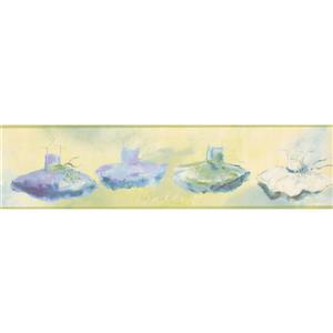 York Wallcoverings Wallpaper Border- 15-ft x 6-in -Ballet - Purple/Green/Blue/Beige