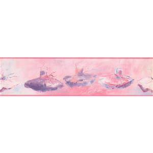 York Wallcoverings Wallpaper Border- 15-ft x 6-in -Ballet - Purple/Pink/Red/Beige