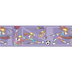 "Retro Art Wallpaper Border - 15' x 7"" - Looney Tunes Lola Bunny Sports"