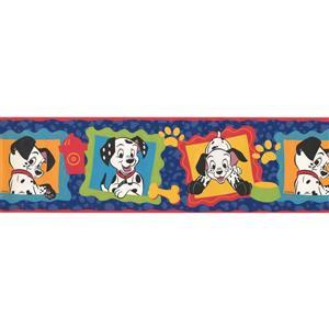 "Retro Art Wallpaper Border - 15' x 7"" - 101 Dalmatians - Multicolour"