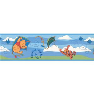 "Retro Art Wallpaper Border - 15' x 6.5"" - Tiger and Winnie the Pooh"