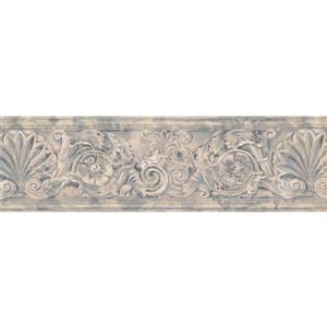 Norwall Wallpaper Border - 15' x 7-in- Antique Damask - Beige/Grey