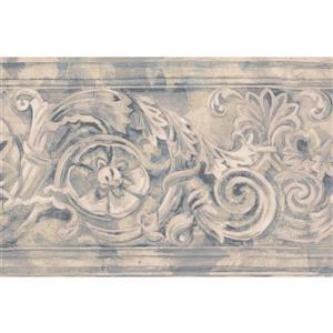 Norwall Wallpaper Border 15 X 7 Antique Damask Beige Grey