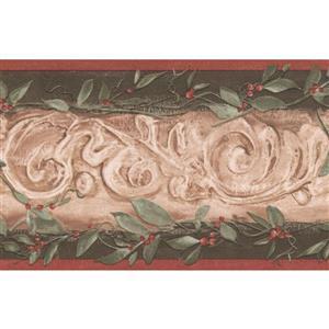 York Wallcoverings Wallpaper Border - 15-ft x 5.25-in - Leaves/Damask - Beige/Green
