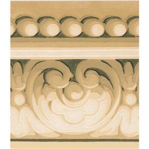 Norwall Wallpaper Border - 15' x 5.5-in- Damask Crown Moulding -Beige