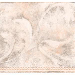 York Wallcoverings Wallpaper Border - 15-ft x 7-in - Abstract Vine Damask - White