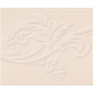 Norwall Wallpaper Border - 15' x 5-in- Retro Vine Damask - Cream