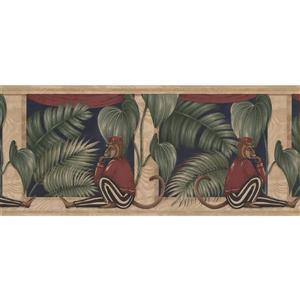 "Retro Art Wallpaper Border - 15' x 10.25"" - Monkey in Striped Pants"