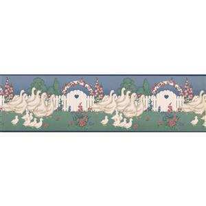 "Retro Art Wallpaper Border - 15' x 7"" - Retro Ducks and Ducklings"