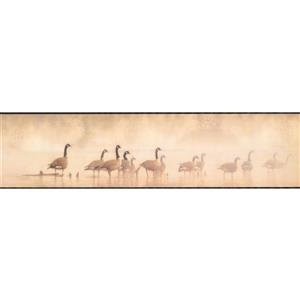 York Wallcoverings Wallpaper Border - 15-ft x 6-in - Geese on the Lake - Beige
