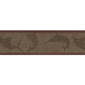 York Wallcoverings Wallpaper Border - 15-ft x 7.25-in - Fish Shade on Wall - Brown