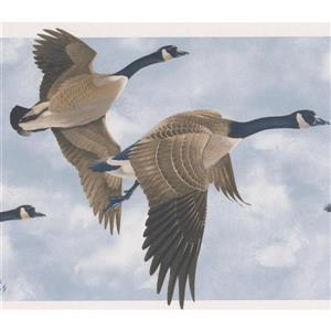 Norwall Wallpaper Border - 15' x 7-in- Beautiful Flying Ducks - Blue